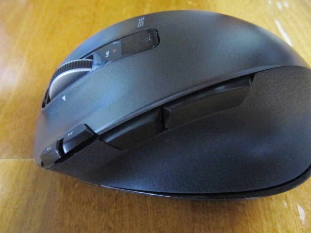 エレコム マウス ワイヤレス (レシーバー付属) Mサイズ 8ボタン レーザー 握りの極み ブラック M-XGM20DLBK