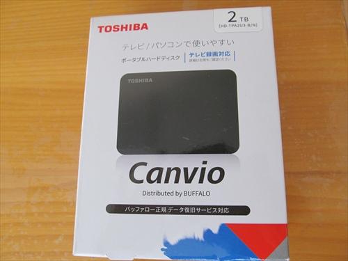 東芝 Canvio 2TB USB3.2(Gen1)対応 ポータブルHDD PC/TV対応 バッファローサポート 国内メーカー 故障予測 外付け Mac ブラック HD-TPA2U3-B/N