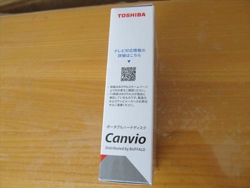 東芝 Canvio HD-TPA2U3-B/N箱側面